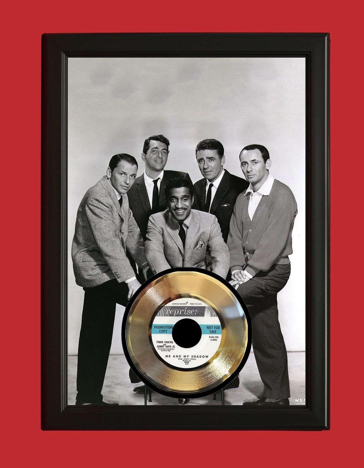 Rat Pack Poster Art Wood Framed Gold 45 Display C3 Gold Record