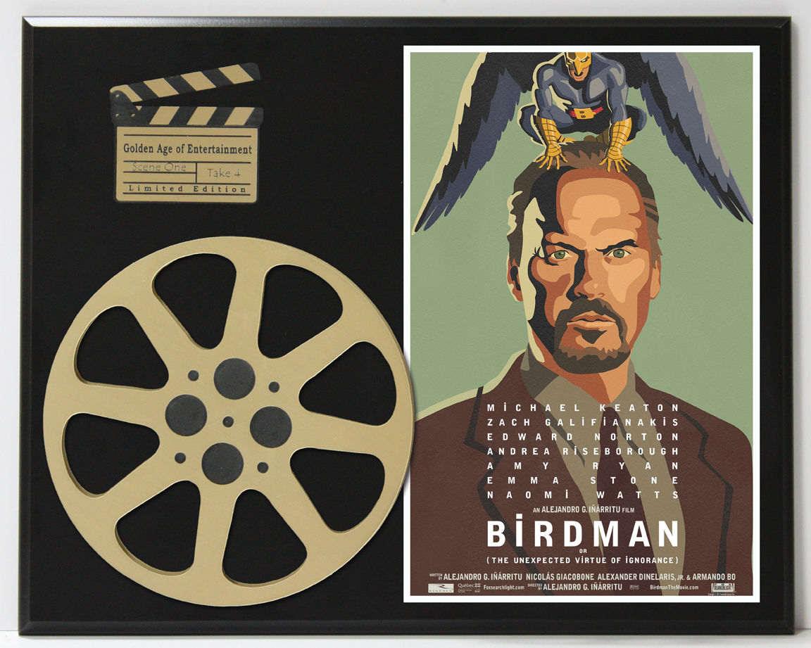 Michael Keaton Wooden plaque Birdman