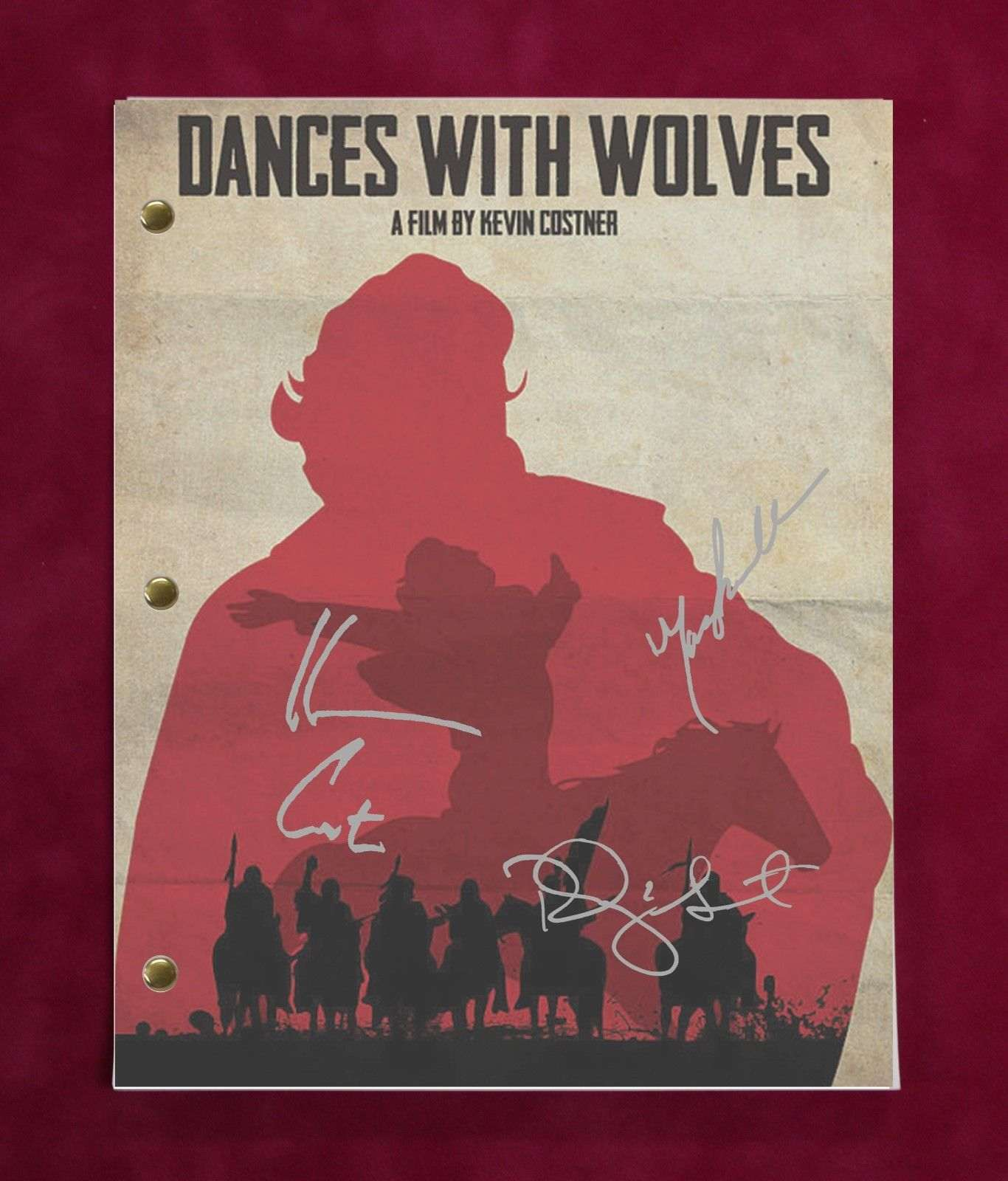 Dances With Wolves Kevin Costner Repro Film Poster