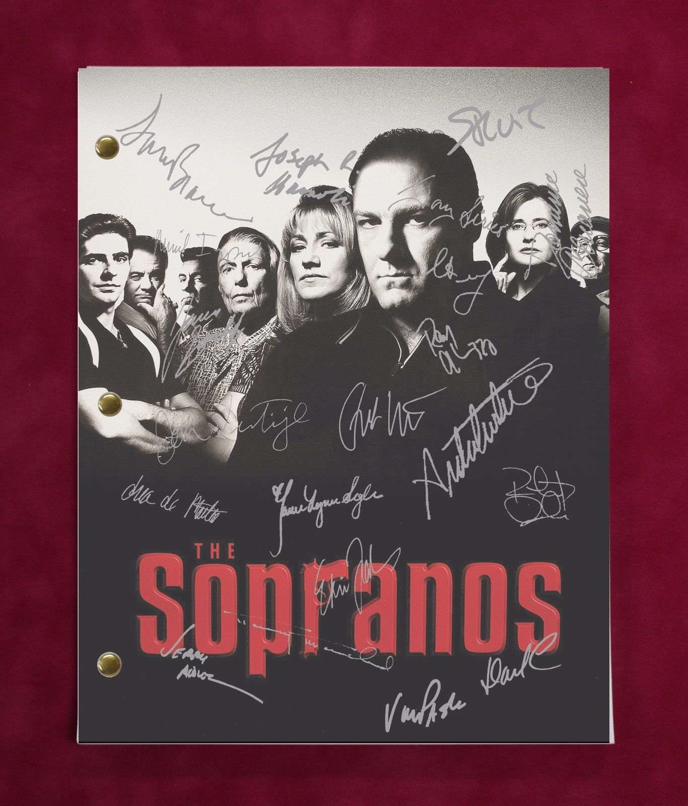 The Sopranos Tv Script W/ Reproduction Signatures Gandolfini, Bracco, Falco C3