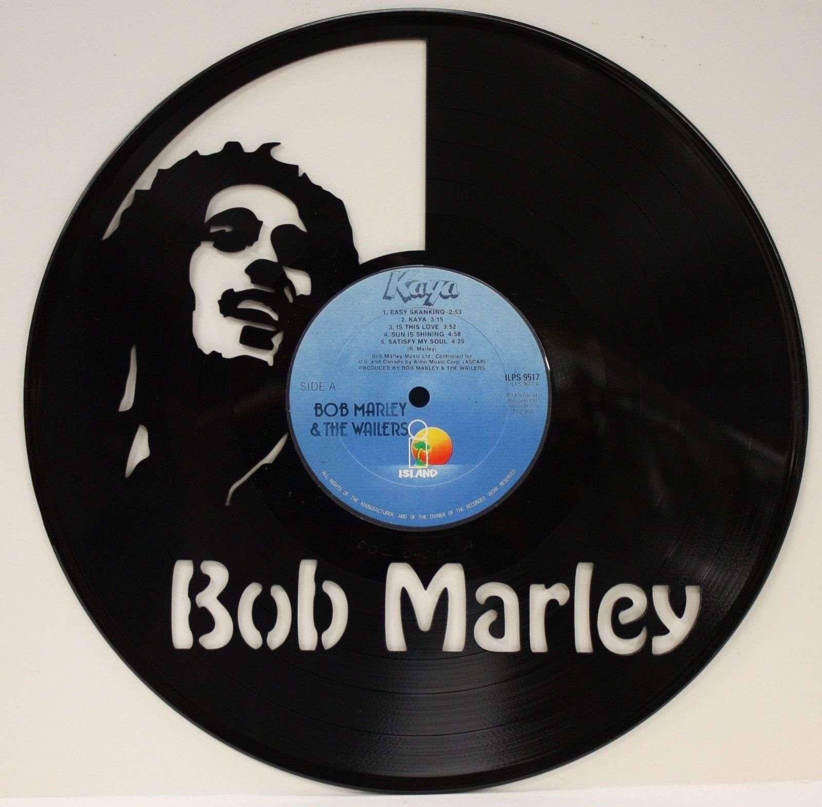 Vinyl Cover Art Book ~ Bob marley vinyl in lp record laser cut wall art display