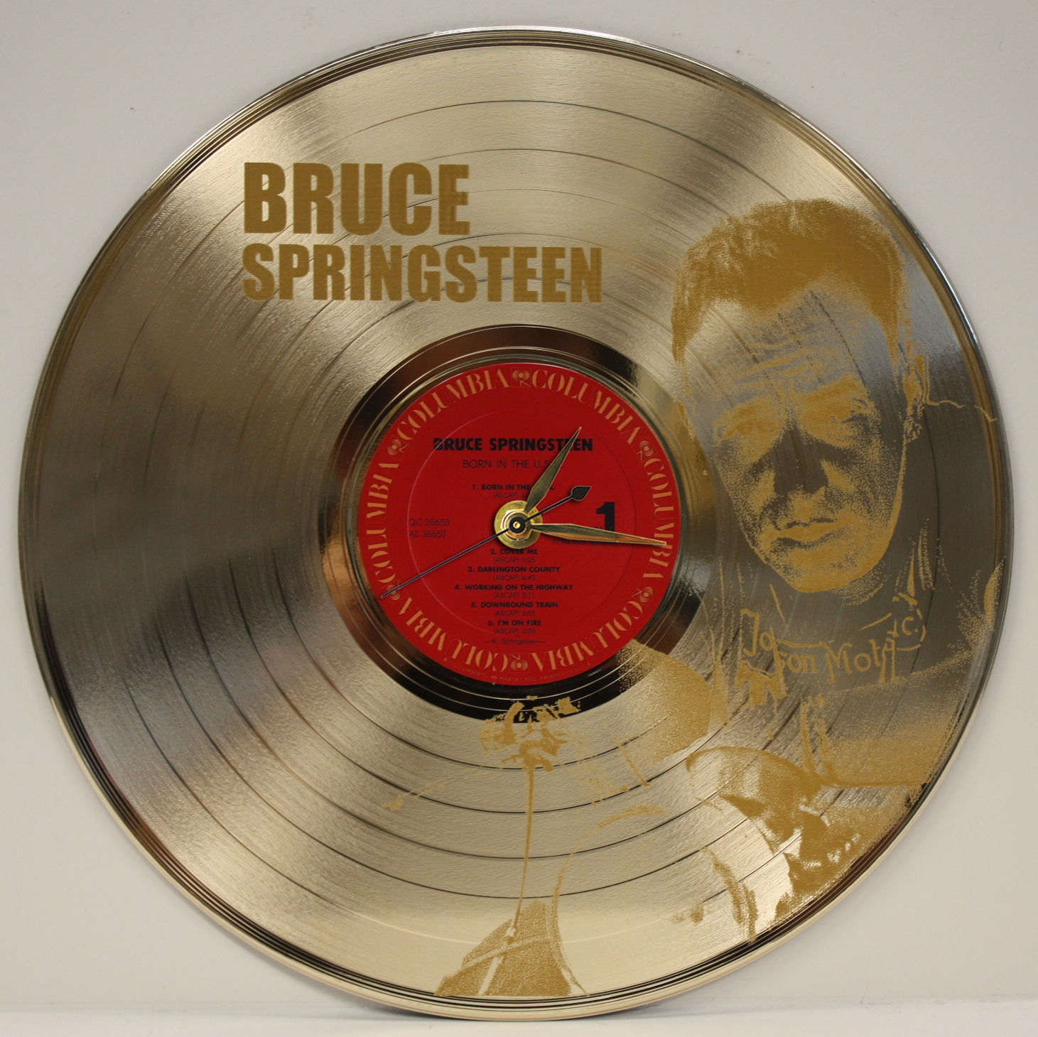 Bruce Springsteen 2 Laser Etched Gold Plated Lp Record