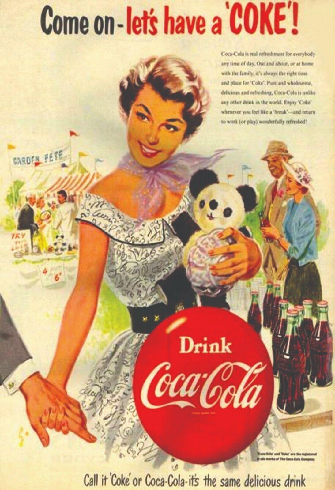 Vintage Soft Drink Ads reprint 8.50 x 11 inches photo 037 Coca Cola Pepsi