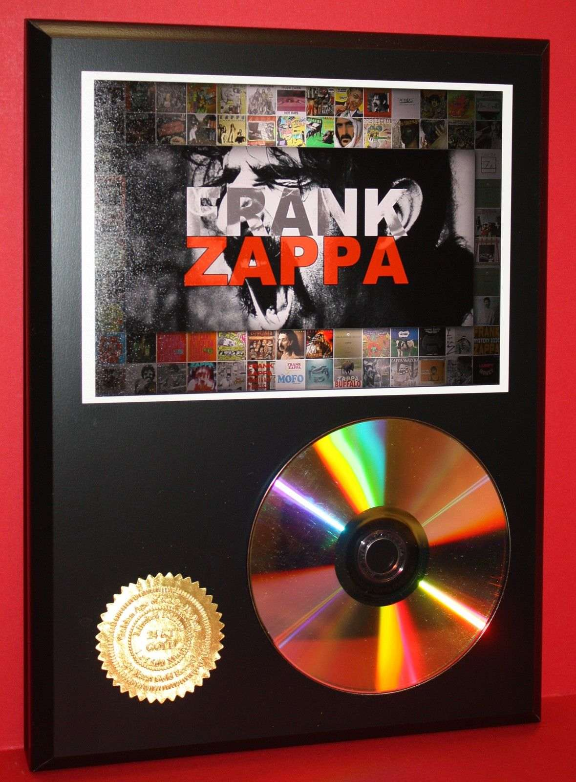 frank zappa 24kt gold cd disc collectible rare award quality plaque gift gold record awards. Black Bedroom Furniture Sets. Home Design Ideas