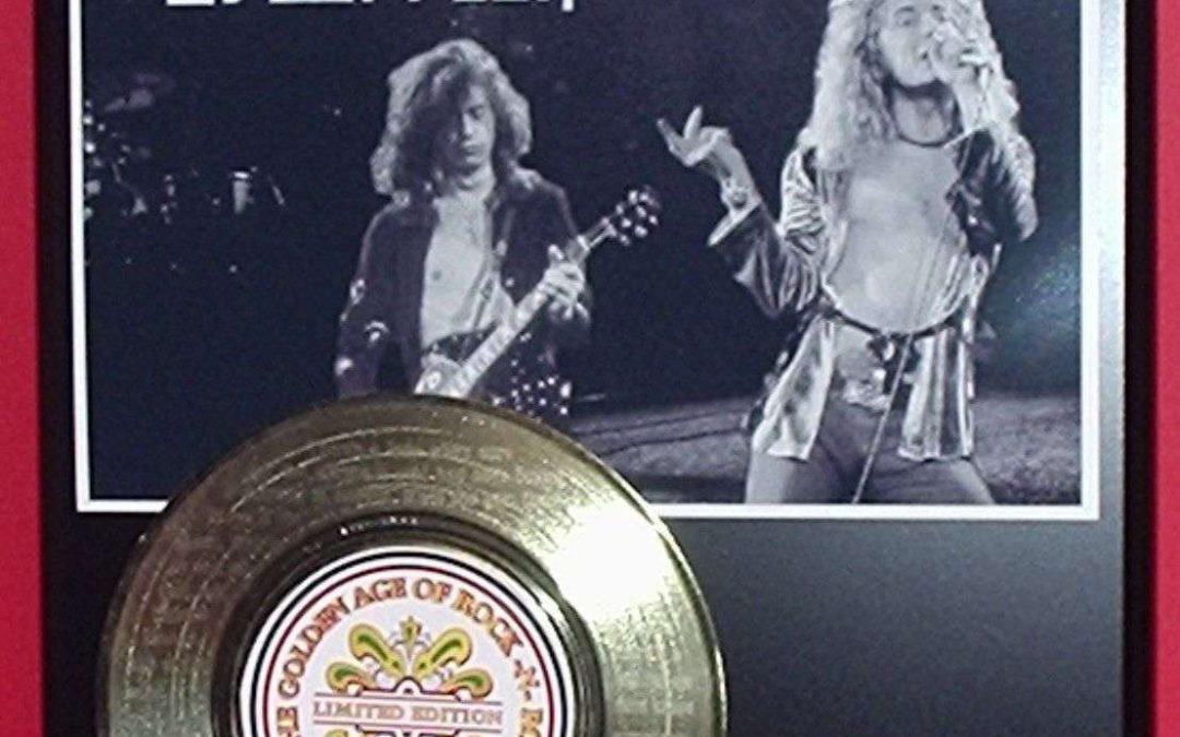 Led Zeppelin Gold Record Award Style Memorabilia Laser Etched W/Song Lyrics Art
