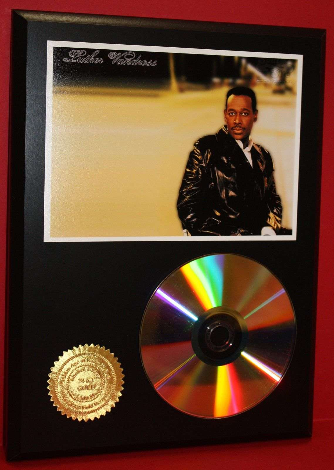 luther vandross 24kt gold cd disc collectible rare award quality plaque gift gold record. Black Bedroom Furniture Sets. Home Design Ideas