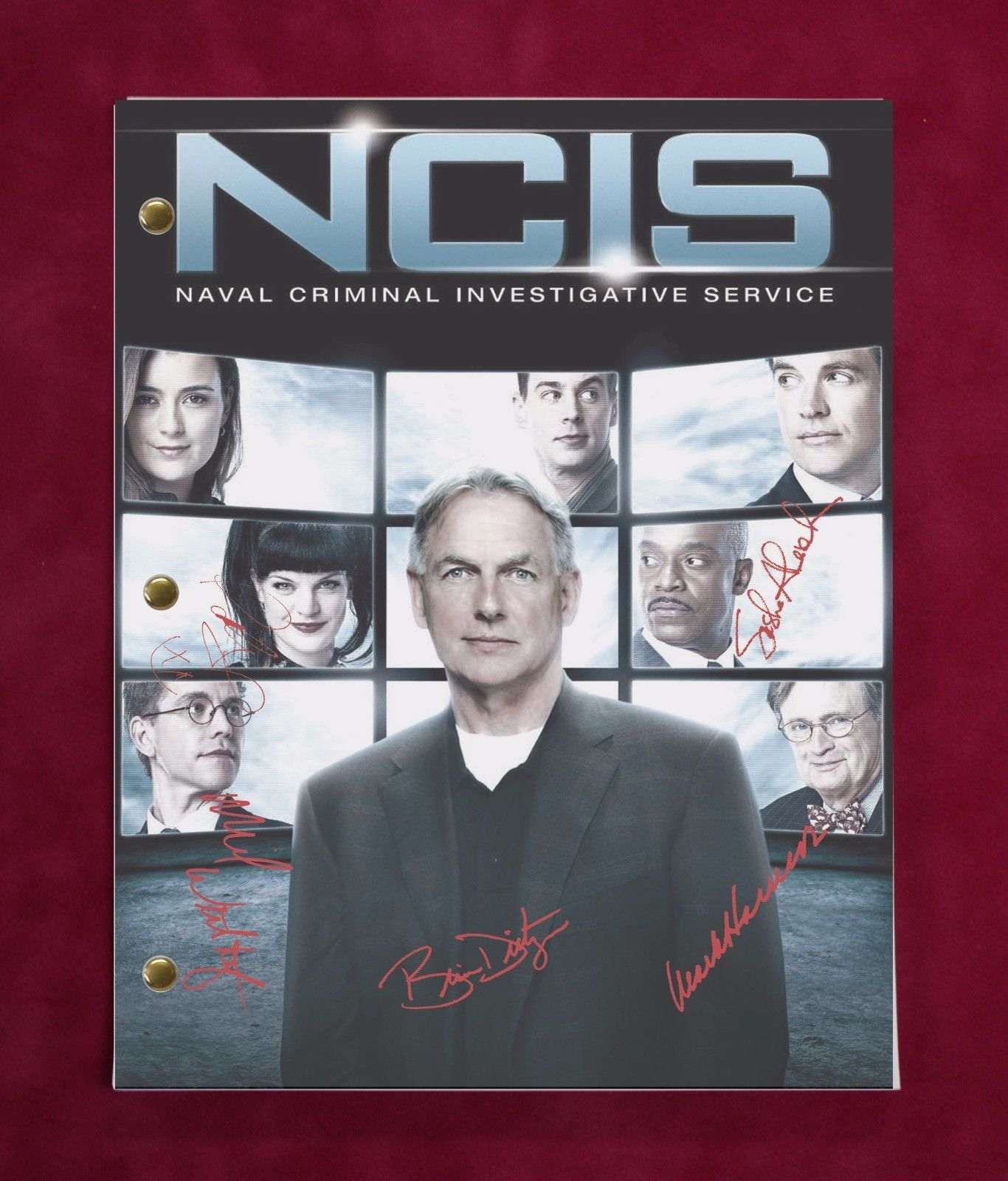 Ncis Terminal Leave Tv Script W/ Reproduction Signatures Harmon Weatherly C3