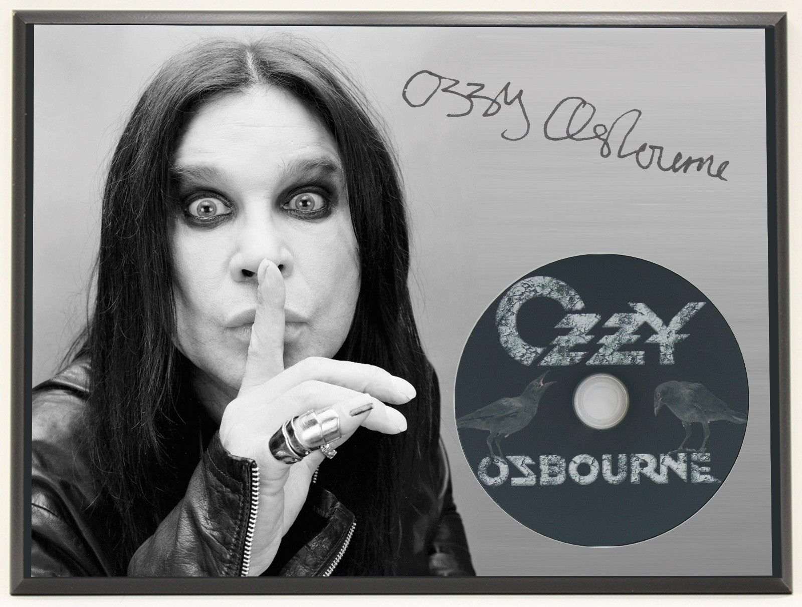 d9621e3eec4e Ozzy Osbourne Ltd Edition Signature Series Picture Cd Display Gift ...