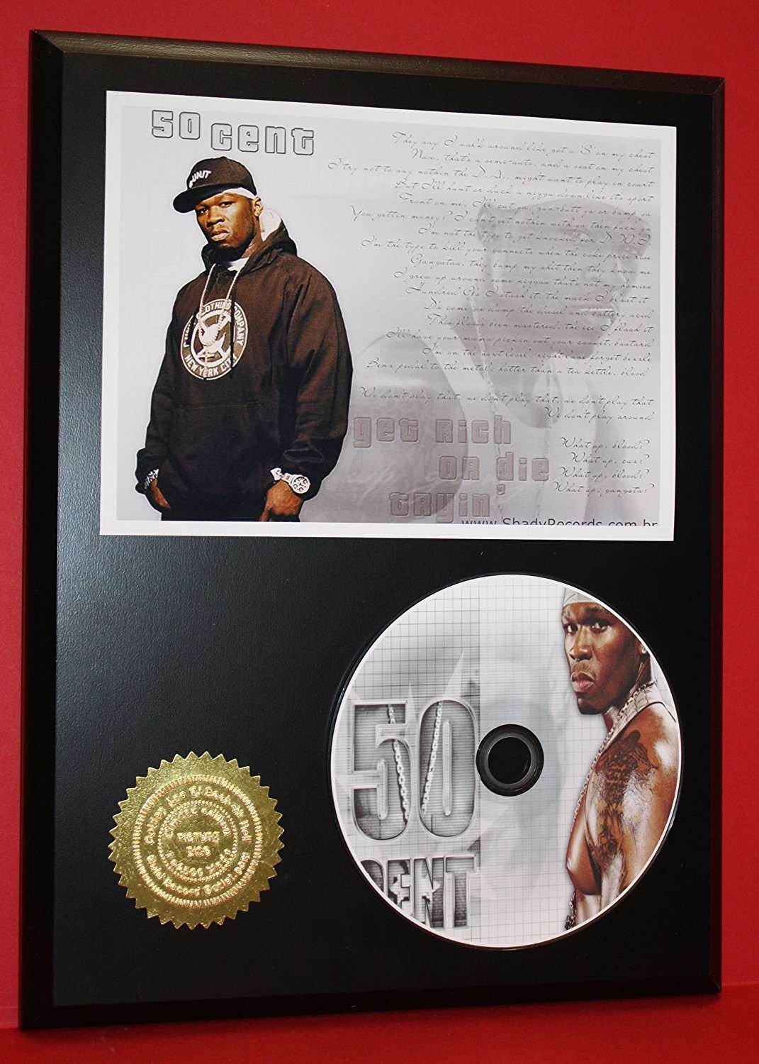 50 Cent Limited Edition Picture Disc CD Rare Collectible Rap Music Display