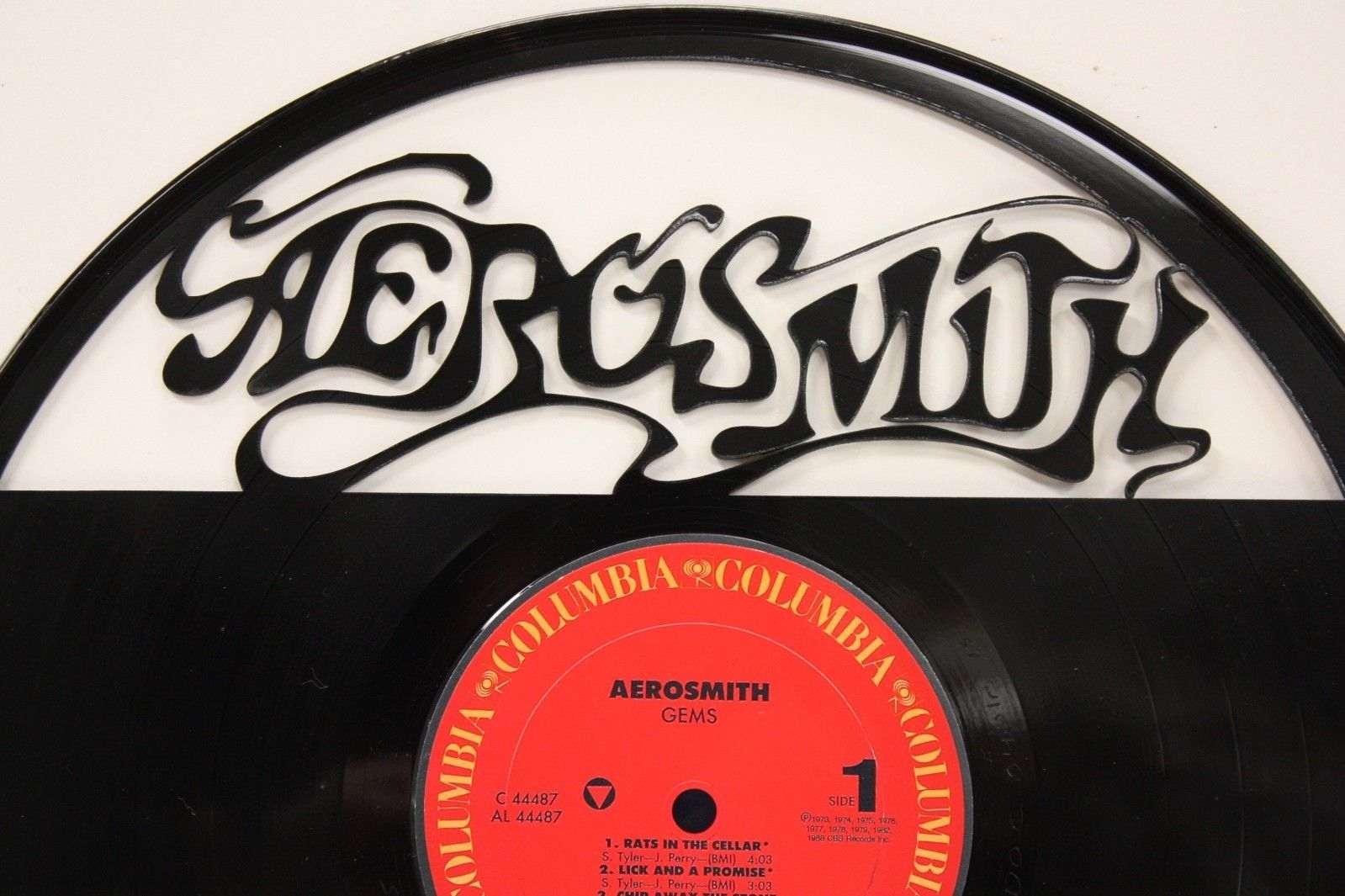 "Laser Cut Wall Art aerosmith vinyl 12"" lp record laser cut wall art display free"