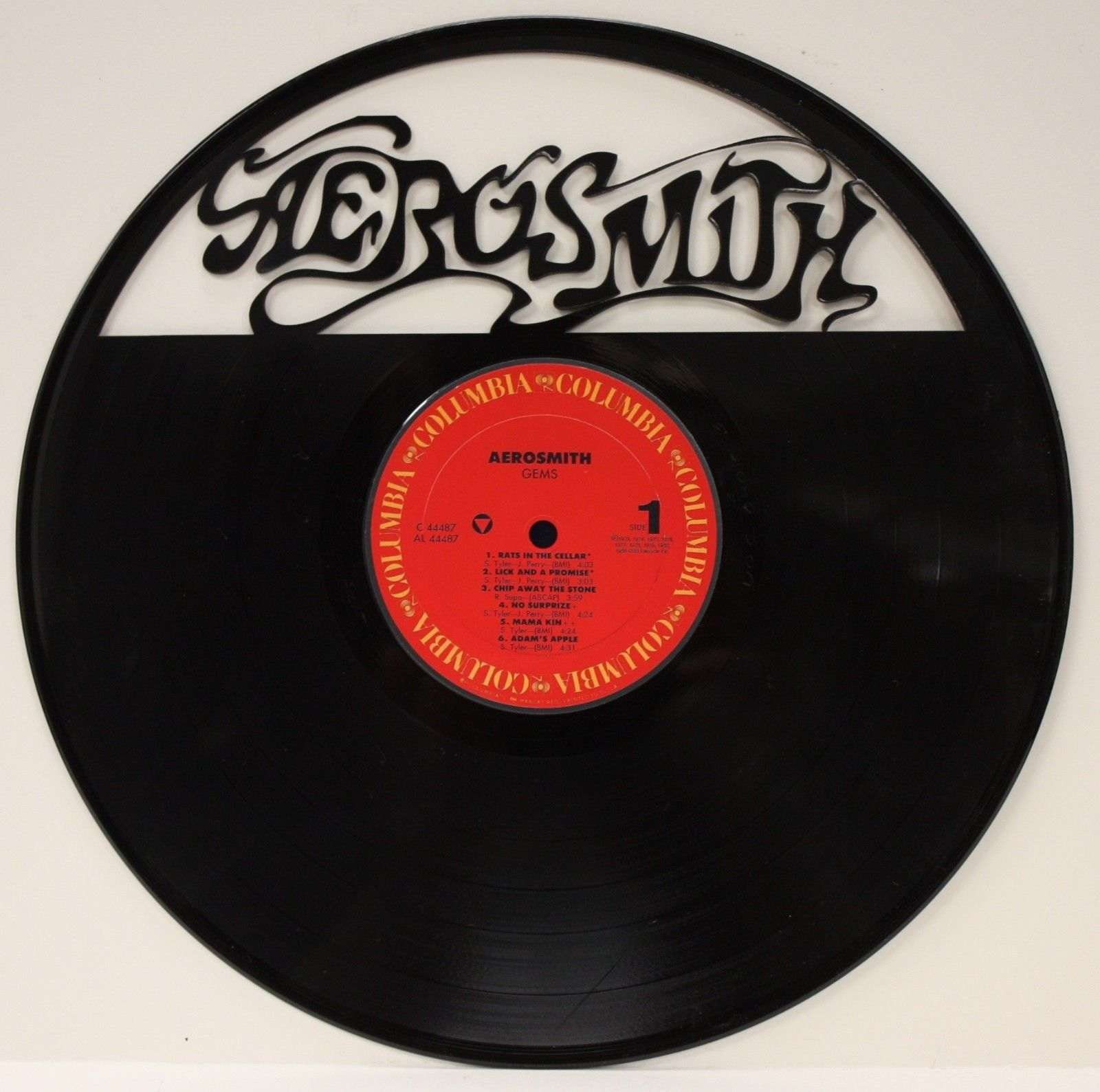 "AEROSMITH VINYL 12"" LP RECORD LASER CUT WALL ART DISPLAY ..."