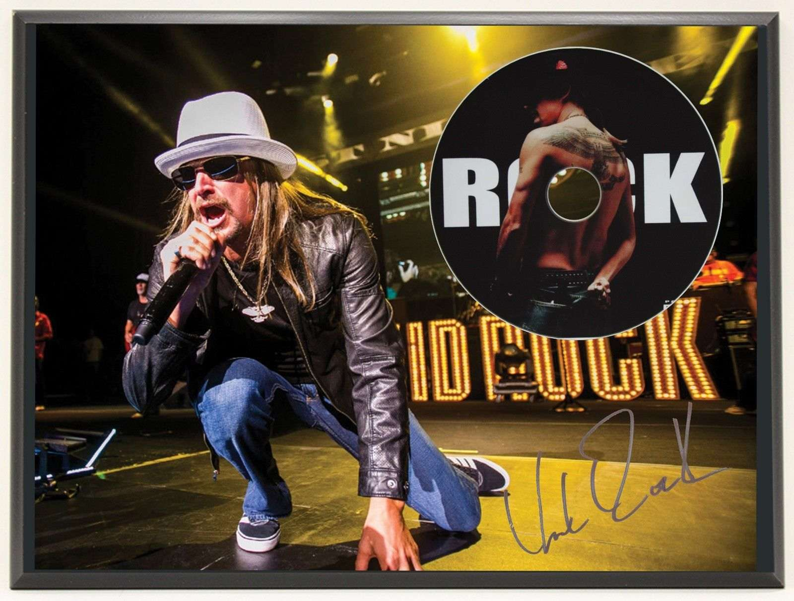 Kid Rock Ltd Edition Signature Series Picture Cd Display