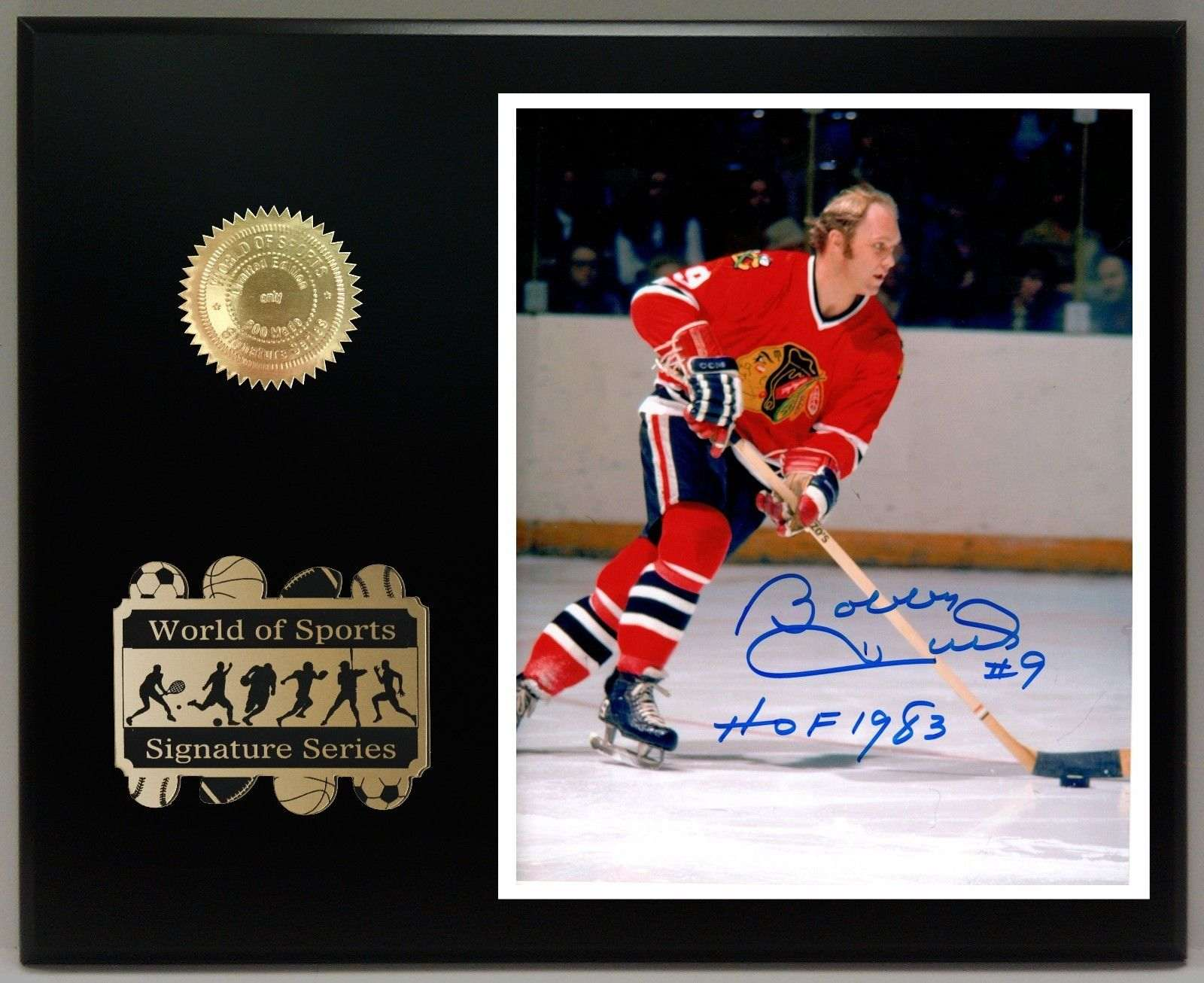Bobby hull ltd edition reproduction signature display for Home decor hull limited