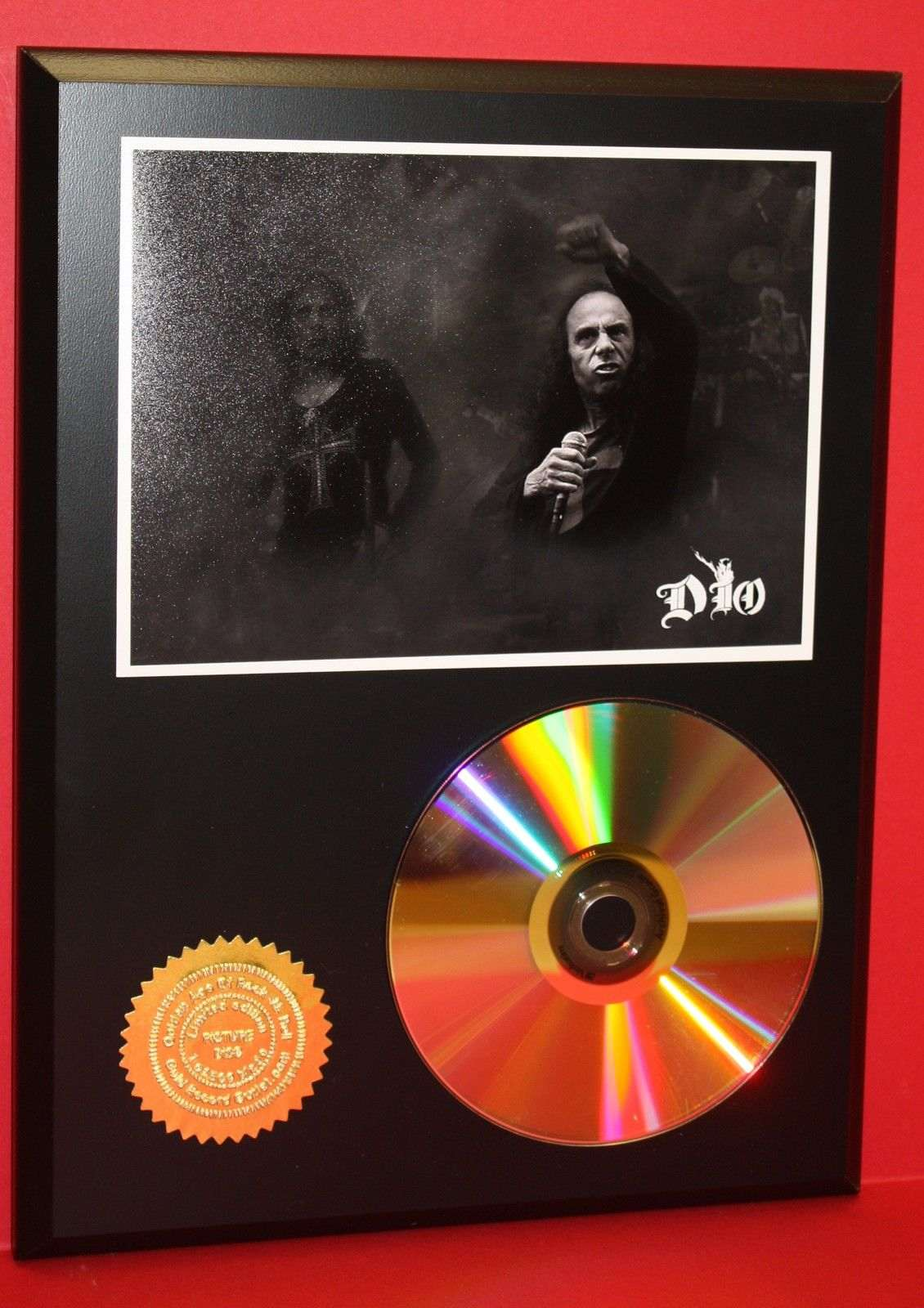 dio heavy metal 24kt gold cd disc collectible rare award quality plaque gold record awards. Black Bedroom Furniture Sets. Home Design Ideas