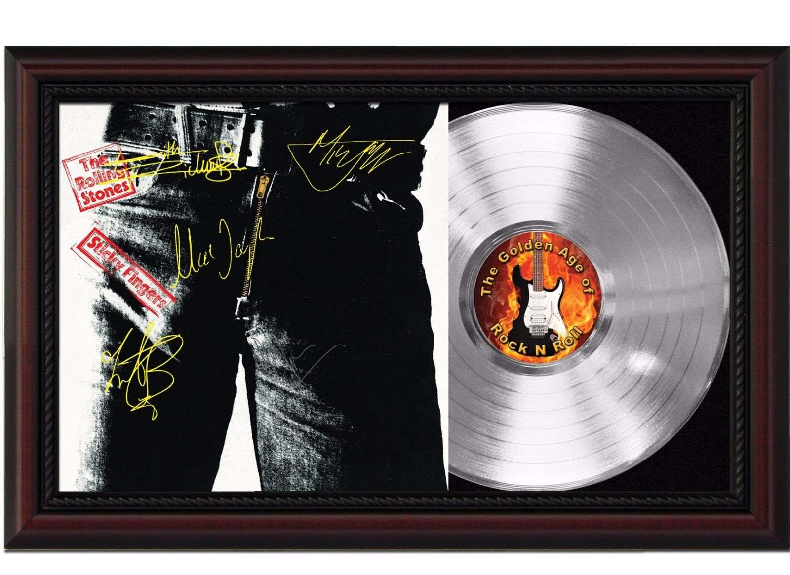 Rolling Stones Sticky Fingers Cherrywood Platinum Signature Display M4