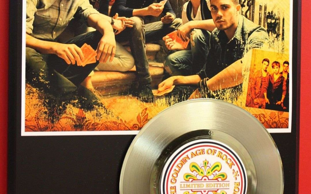 The Wanted New Rare Gold Record Award Style Ltd Edition Office Decor Art