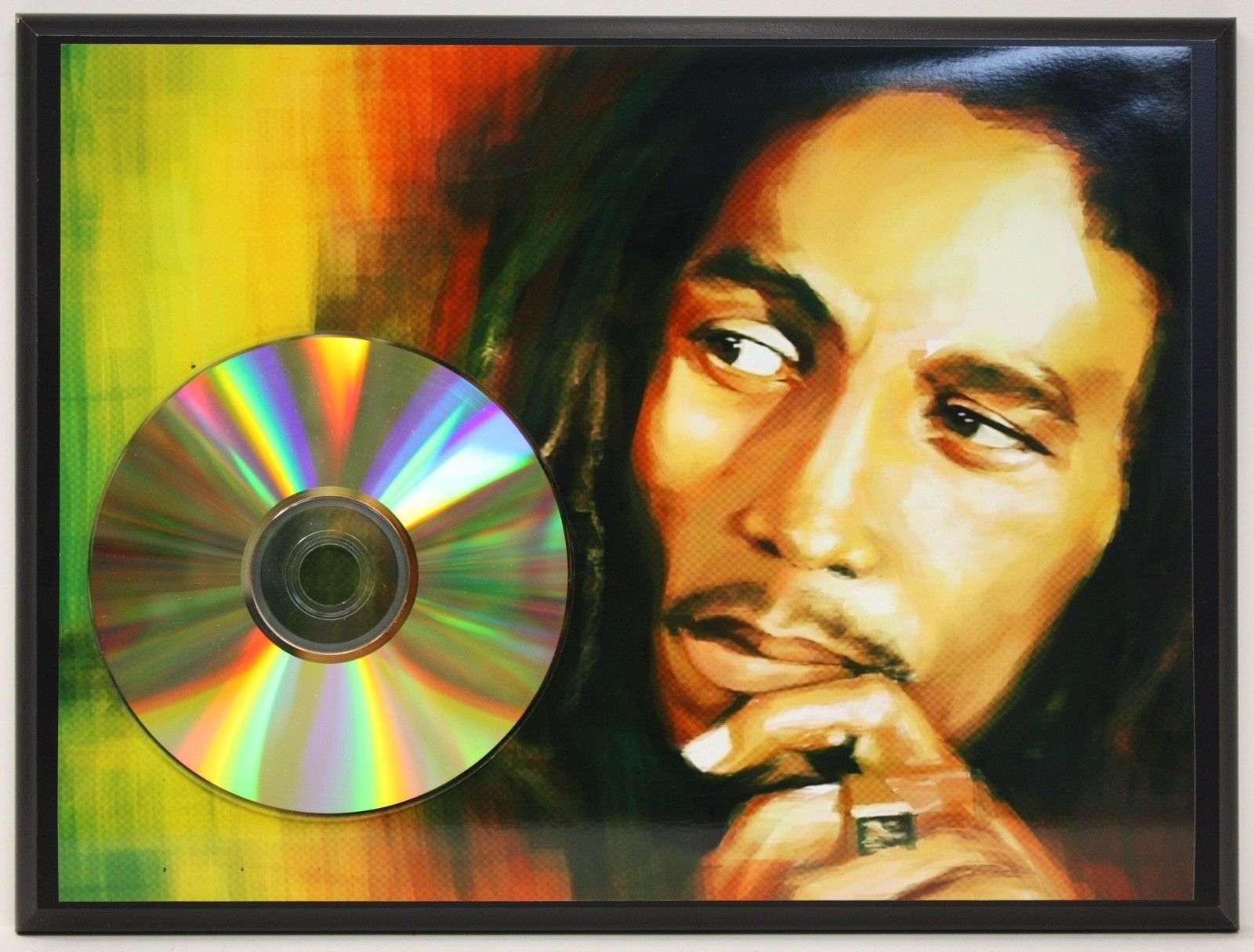 bob marley 24kt gold cd ltd edition plaque free u s priority shipping gold record awards. Black Bedroom Furniture Sets. Home Design Ideas