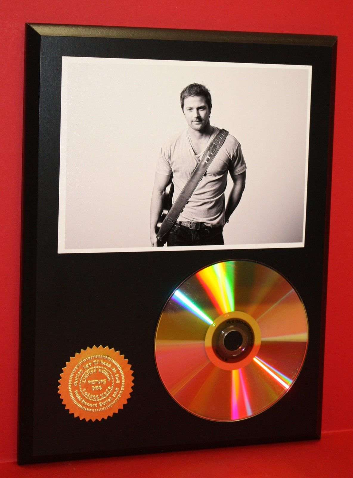 kip moore 24kt gold cd disc collectible rare award quality plaque gift gold record awards. Black Bedroom Furniture Sets. Home Design Ideas