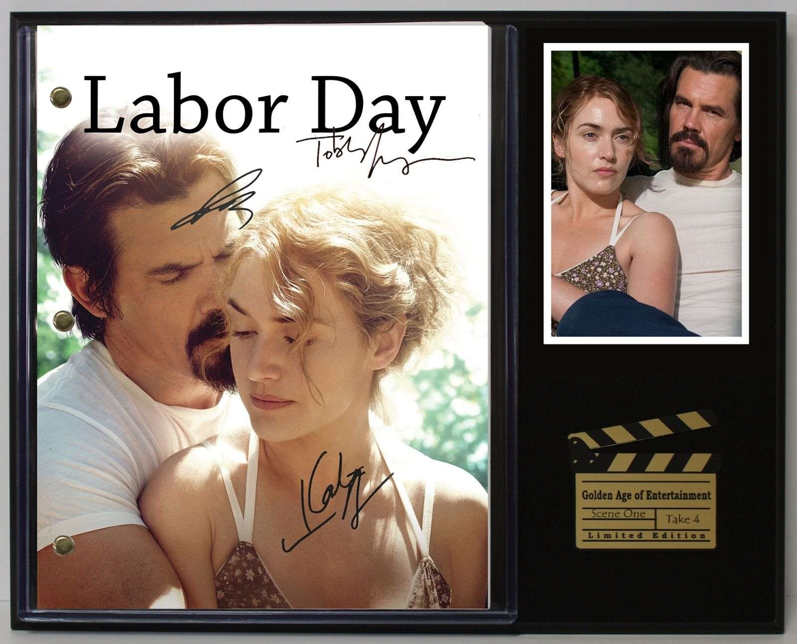 Labor Day Ltd Edition Reproduction Movie Script Cinema Display C3