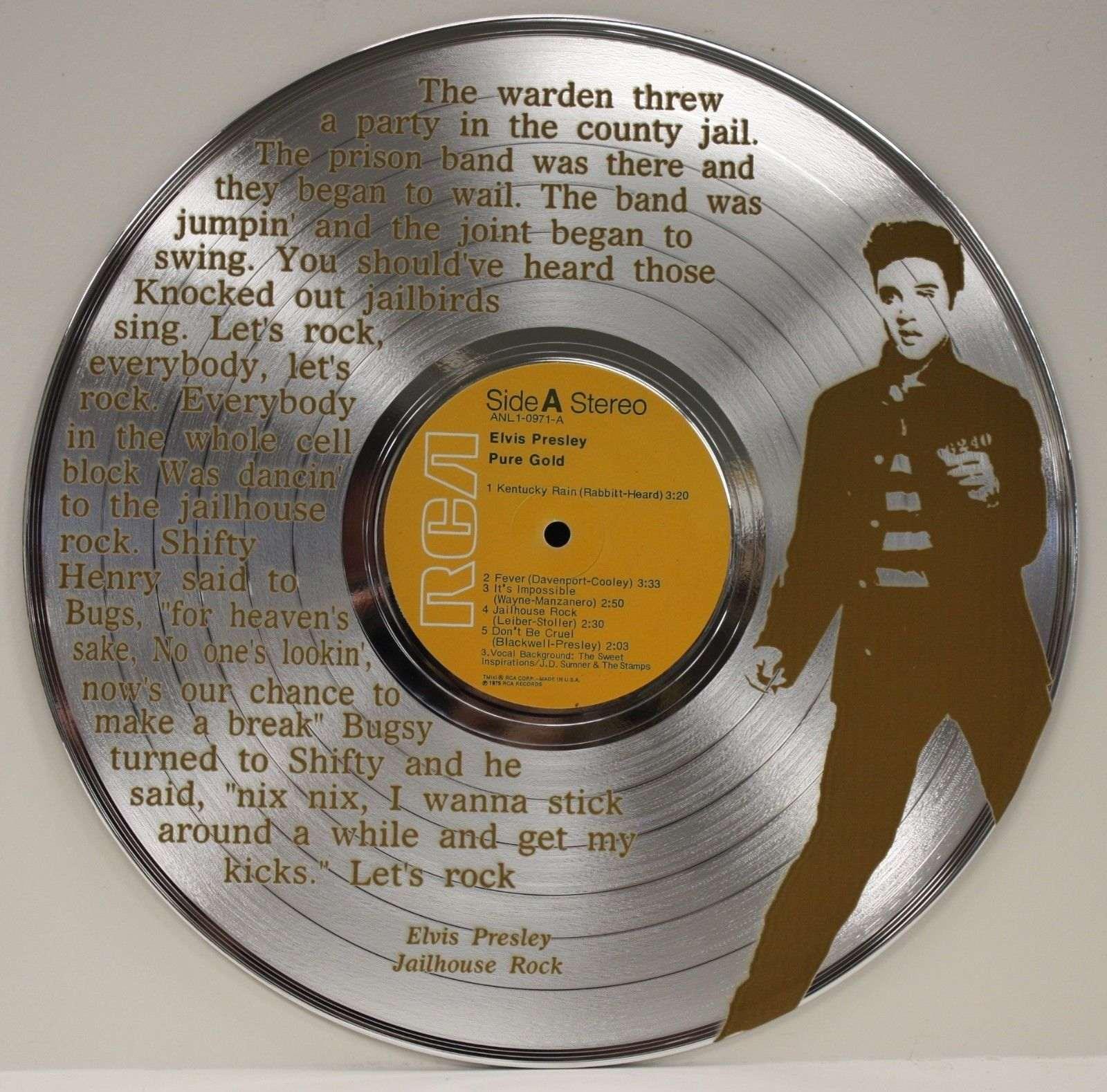 Elvis Presley Silver Laser Etched Ltd Edition Lp Record