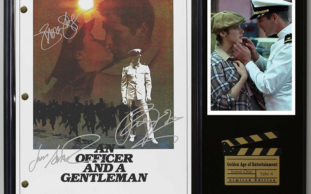 An Officer And A Gentleman Ltd Edition Reproduction Movie Script Cinema Display C3