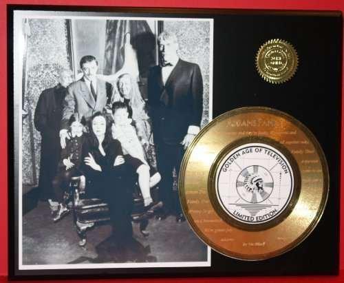 Addams Family 24Kt Gold Record Rare LTD Edition Laser Etched W/ Lyrics