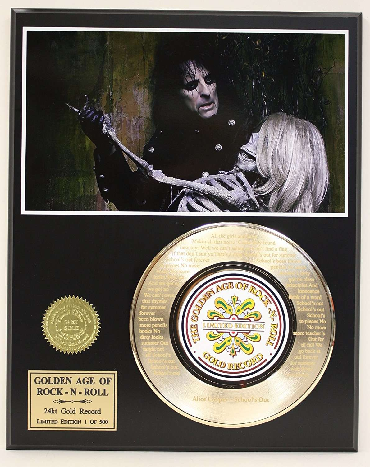 a6b16df490d9 Alice Cooper Laser Etched With Lyrics To Schools Out Limited Edition ...