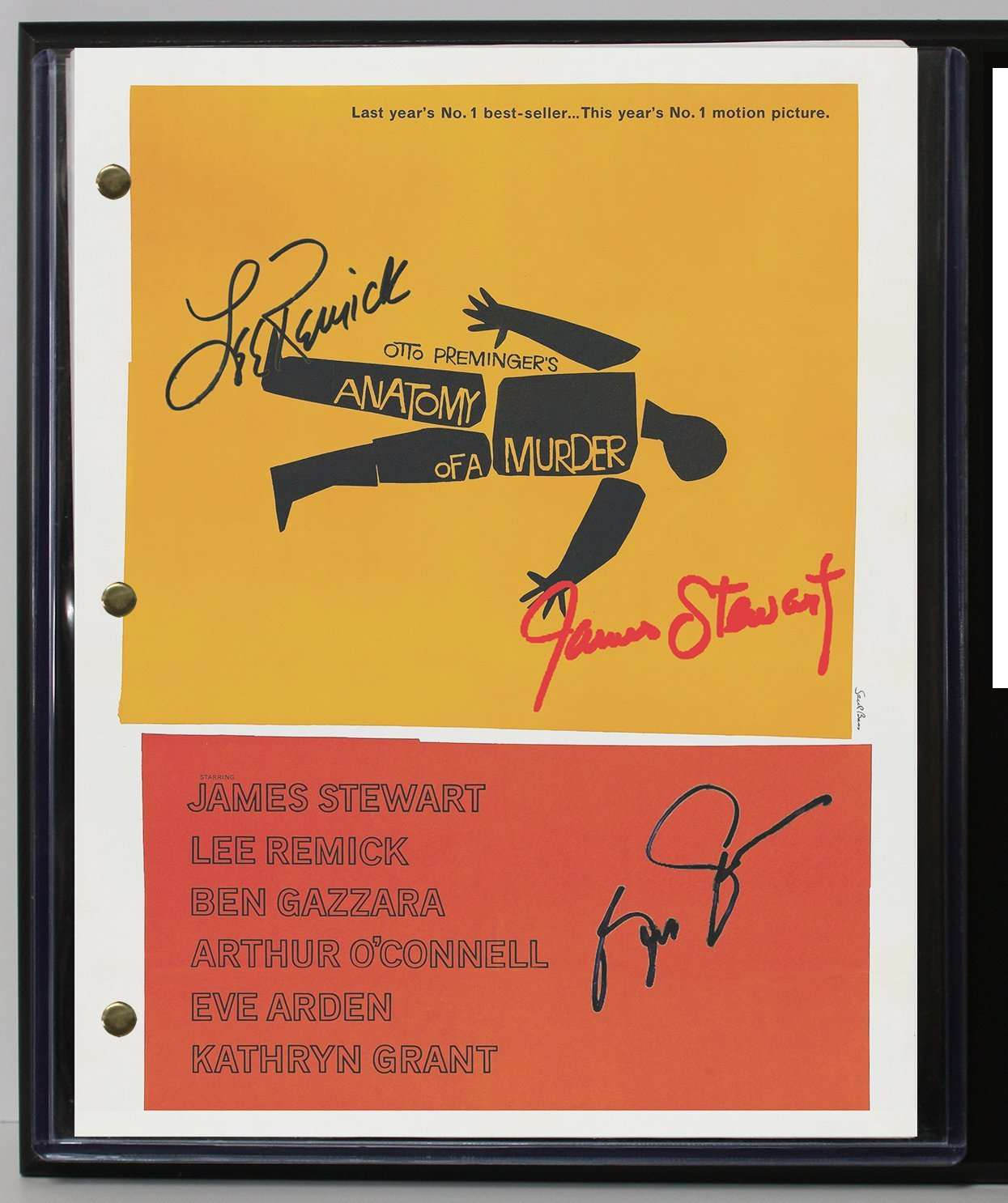 Anatomy Of A Murder Limited Edition Reproduction Movie Script Cinema ...