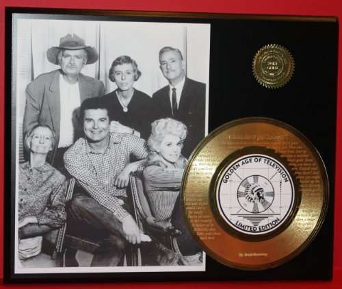 Beverly Hillbillies 24Kt Gold Record Rare LTD Edition Laser Etched W/ Lyrics