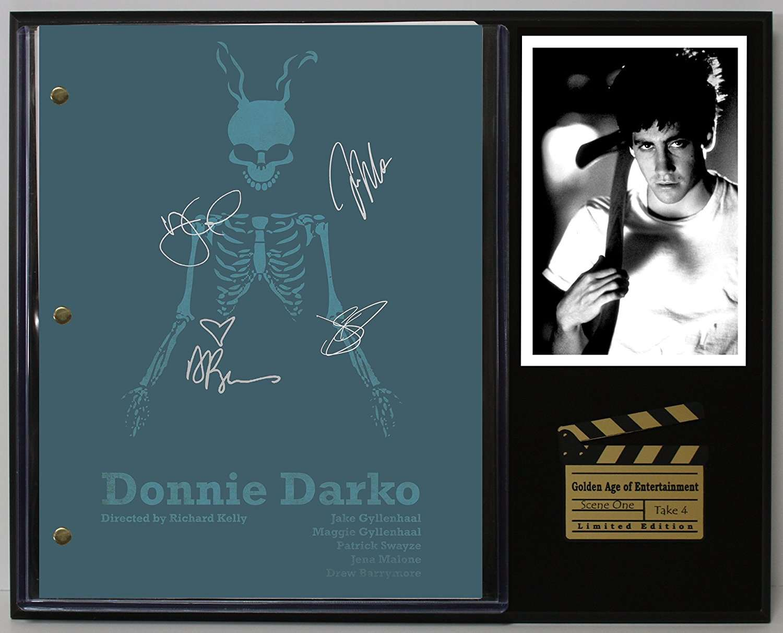 Donnie Darko Limited Edition Reproduction Movie Script Cinema Display C3 Gold Record Outlet Album And Disc Collectible Memorabilia
