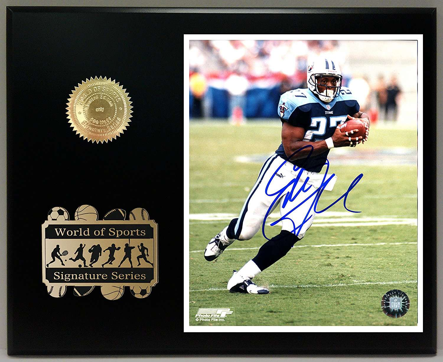 reputable site a3267 921d6 Eddie George Ltd. Edition Sports Reproduction Signature Display