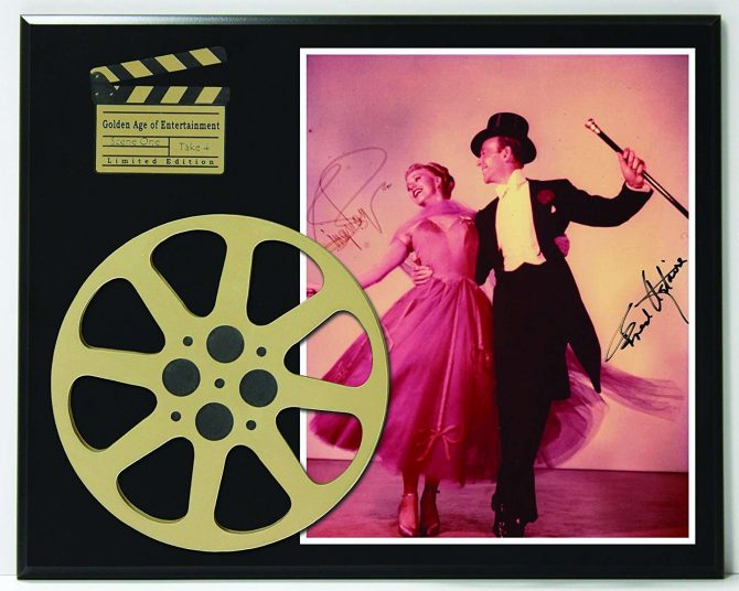 Fred Astaire and Ginger Rogers Limited Edition Reproduction Autographed  Movie Reel Display K1