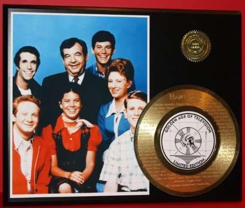 Happy Days 24Kt Gold Record Rare LTD Edition Laser Etched W/ Lyrics