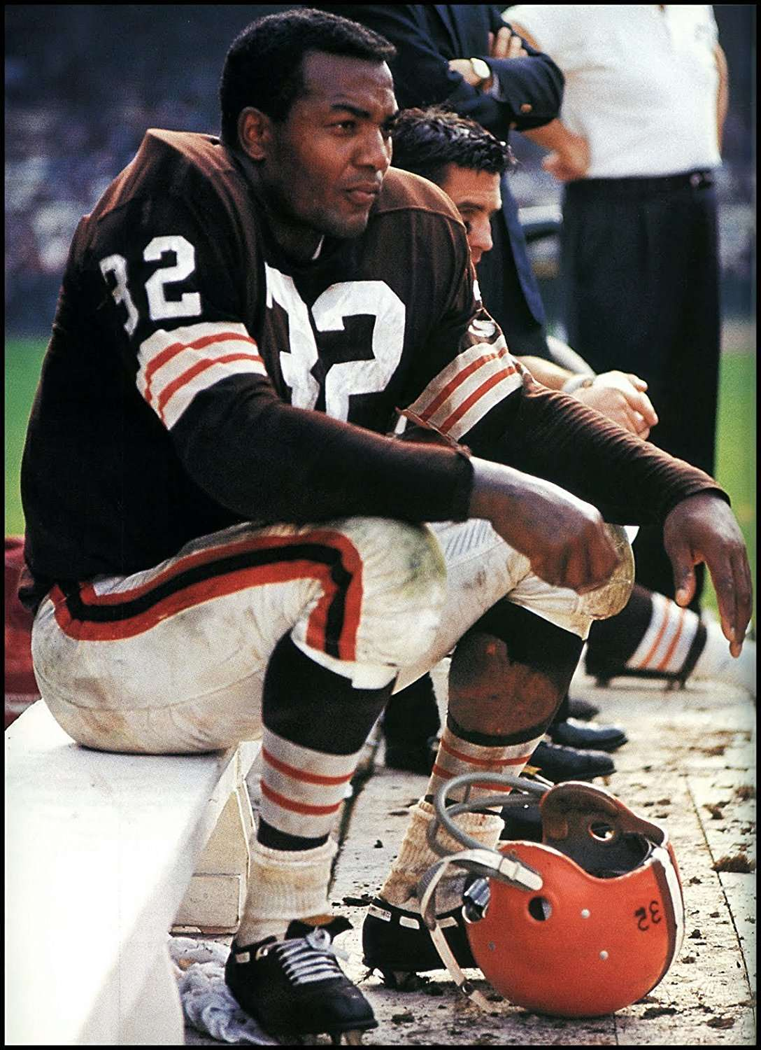 25f42ed311c Jim Brown Cleveland Browns NFL Wide World Of Sports Stat Display ...