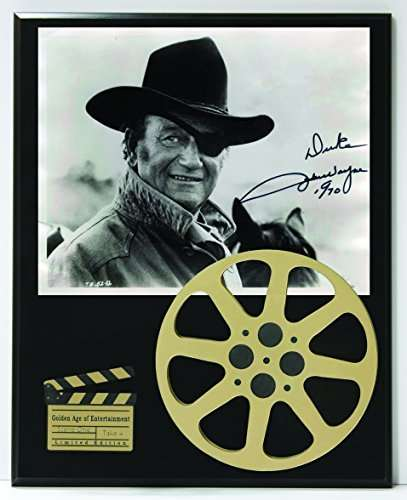 John Wayne Limited Edition Reproduction Autographed Movie Reel Display K1