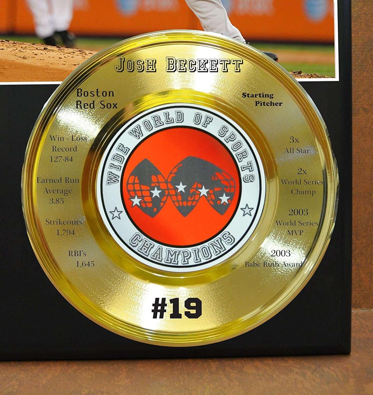 Josh Beckett Boston Red Sox Mlb Wide World Of Sports Stat Plaque ...