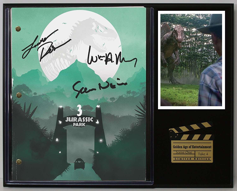 Jurassic Park 3 Limited Edition Reproduction Movie Script Cinema Display C3