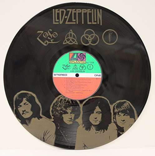 Led Zeppelin Zoso Black Vinyl Laser Etched Limited Edition