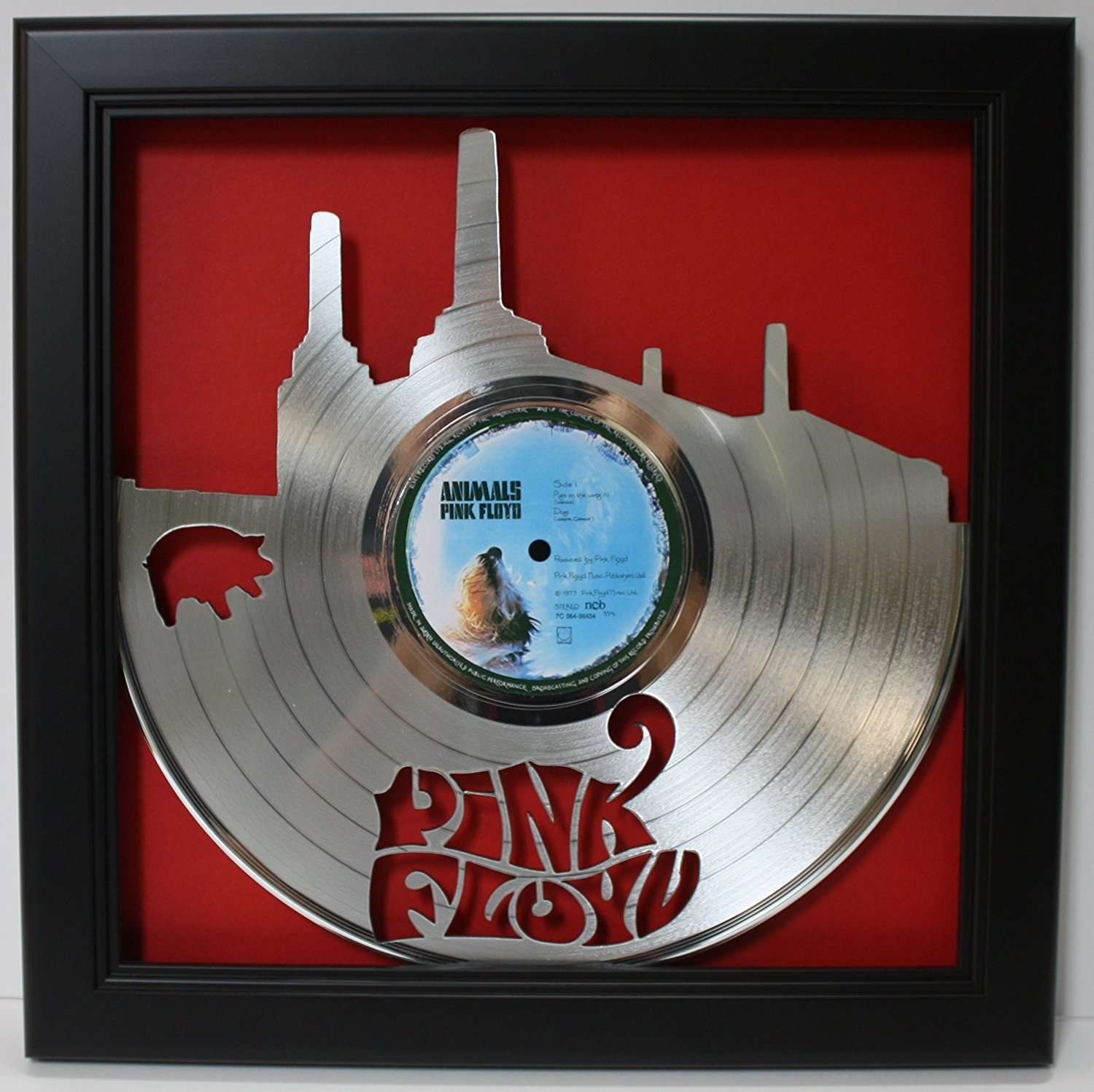 Pink Floyd Black Wood Framed