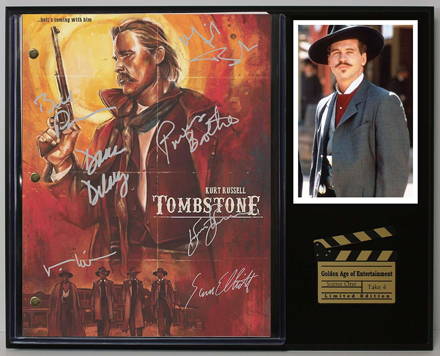 Tombstone Ltd Edition Reproduction Movie Script Cinema Display C3