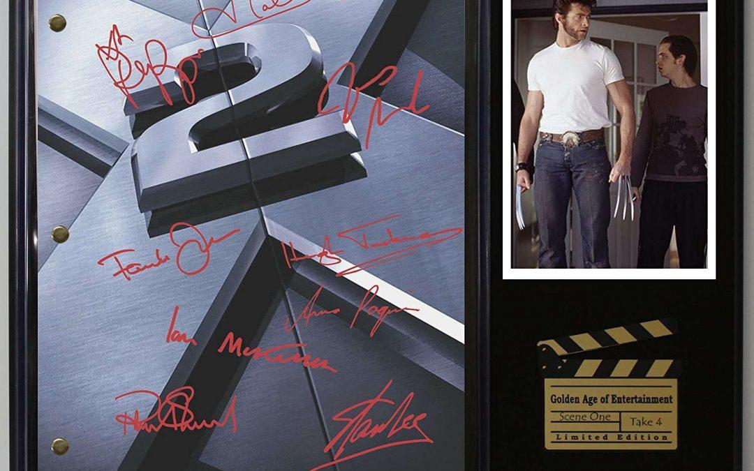 X Men 2 Ltd Edition Reproduction Movie Script Cinema Display C3